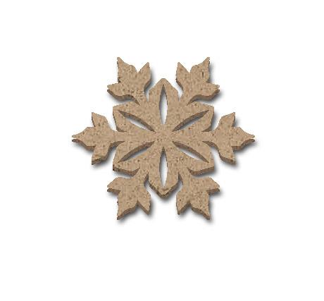 "Snowflake Embellishment -2 1/4"" x 2"""
