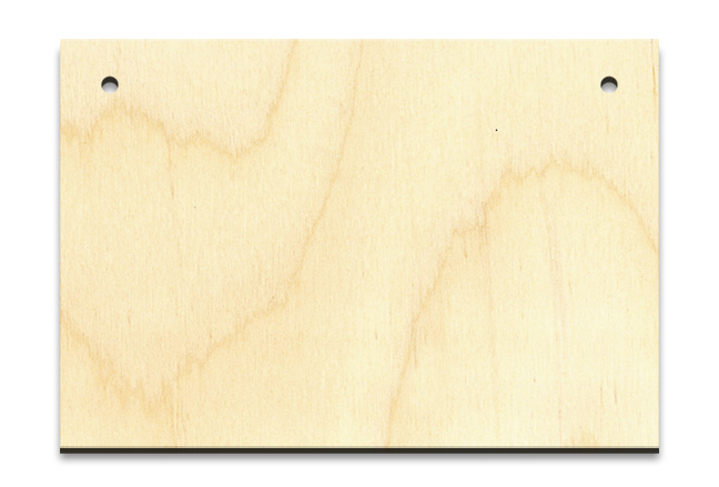 """Simple Rectangle Wood Surface - Ornament 3-1/2"""" X 2- 3/8"""""""