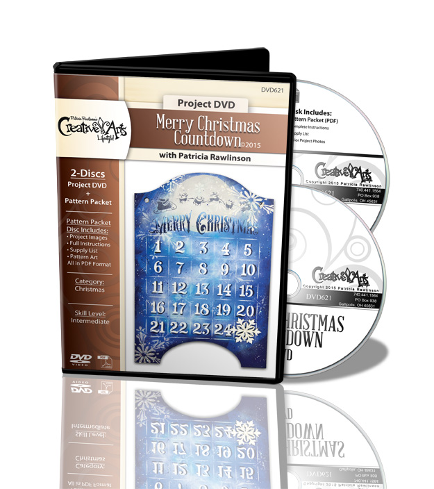 Merry Christmas Countdown DVD and Pattern Packet - Patricia Rawlinson