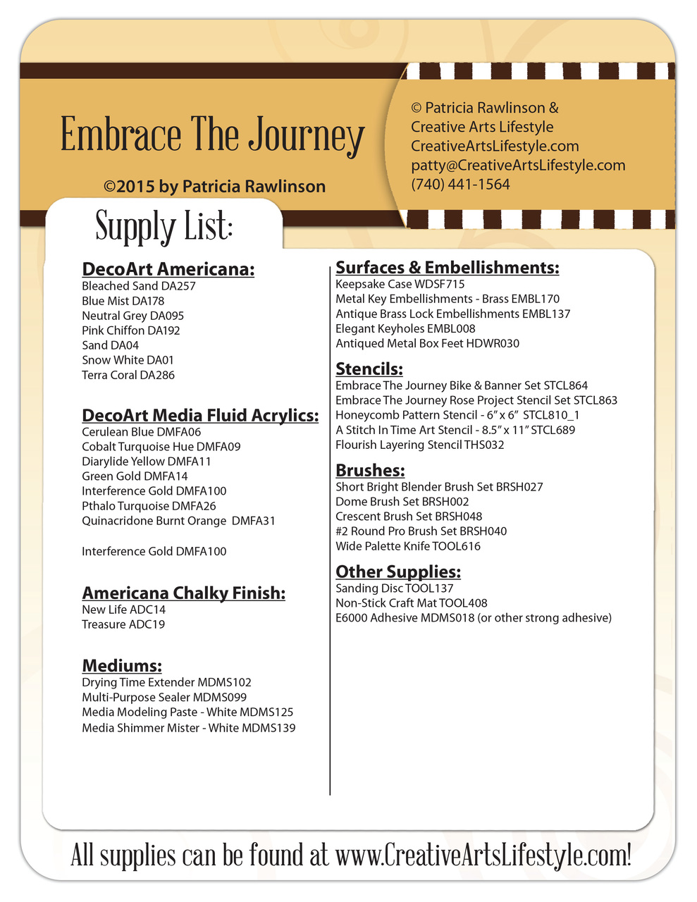 Embrace The Journey - E-packet - Patricia Rawlinson