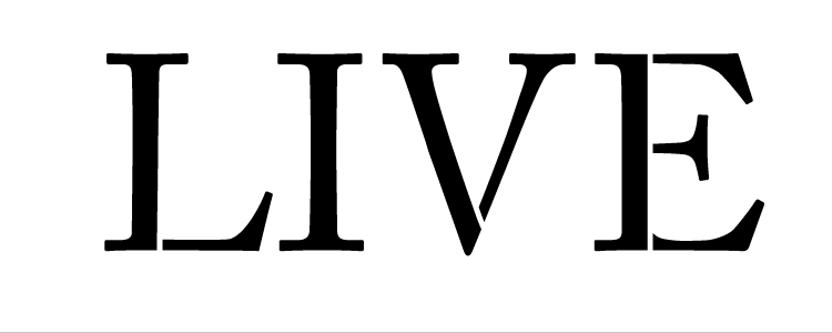 "Live - Word Stencil - Traditional - 6"" X 2"""