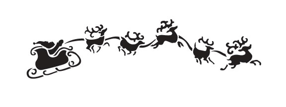 "Eight Tiny Reindeer Art Stencil- 8"" X 3"""