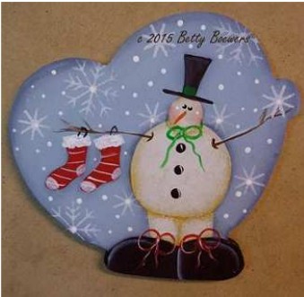 Snowy Ornament or Pin - E-Packet - Betty Bowers