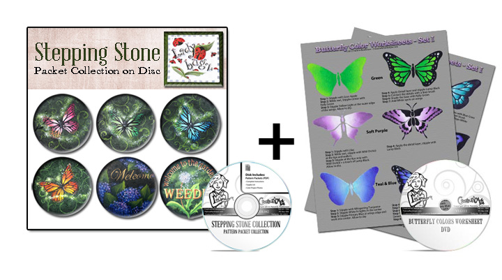 Stepping Stone E-Collection + Butterfly Visual Learning Guides Set