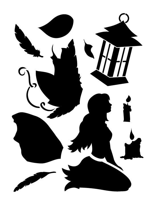 """Hopeful Fairy Art Stencil - 8.5"""" x 11"""""""