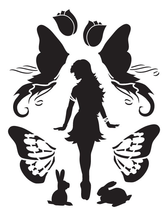 "Diva Fairy Art Stencil - 8.5"" x 11"""