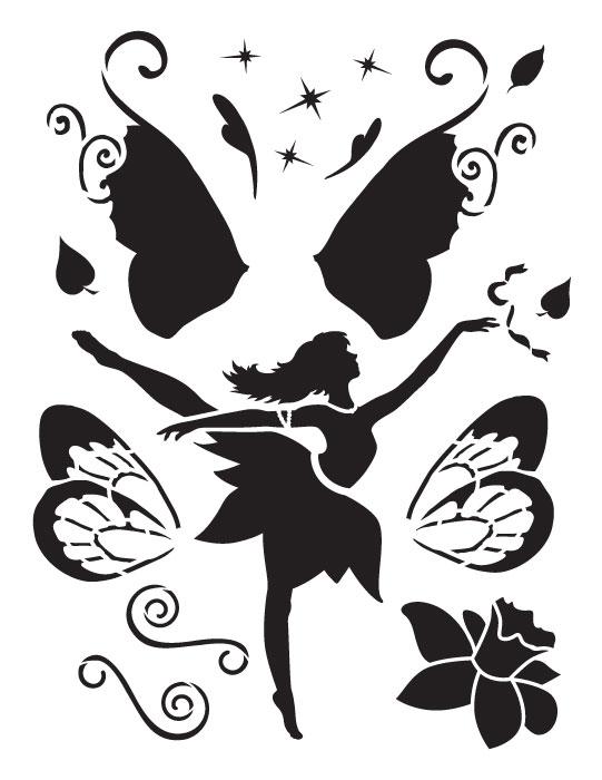"""Dancing Fairy Art Stencil - 8.5"""" x 11"""""""