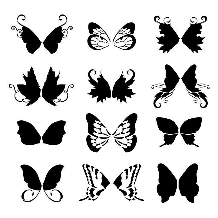 """Faery Wings Art Stencil - 12"""" x 12"""""""