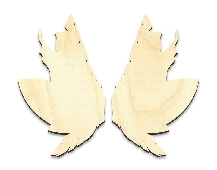 """Feathery Leaves Fairy Wing Set - Small - 2-1/2"""" x 4"""" Each"""