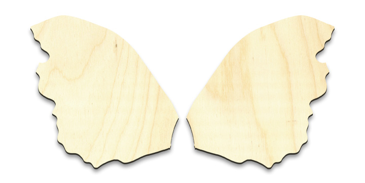 """Rough Fairy Wing Set - Small - 3-1/8"""" x 3-1/4"""" Each"""