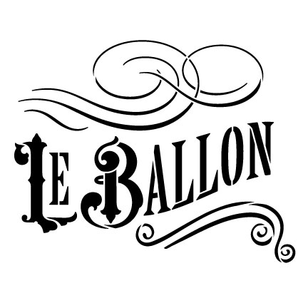"Le Ballon Word Art Stencil - 6"" x 6"""