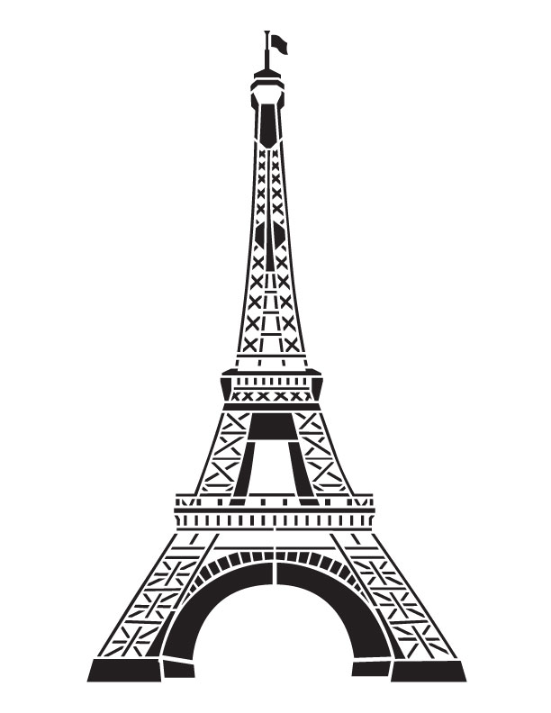 "Eiffel Tower Art Stencil - 8-1/2"" x 11"""