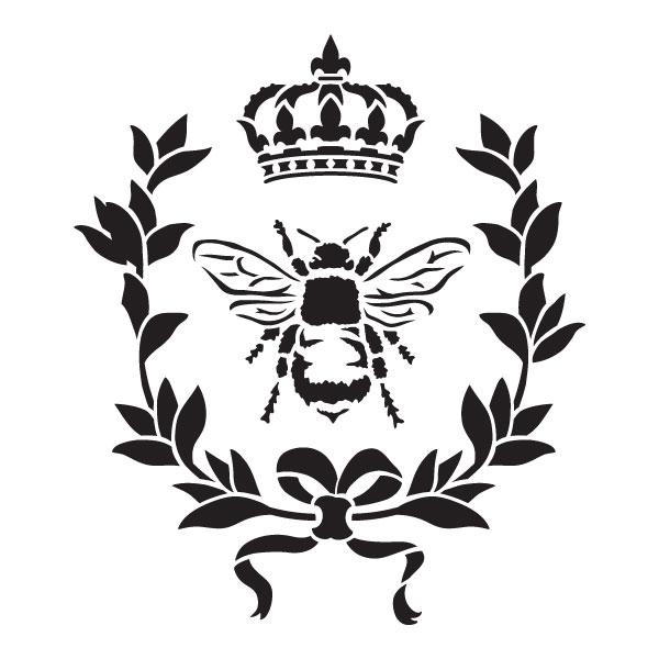 "French Bee Art Stencil - 9"" x 9"""