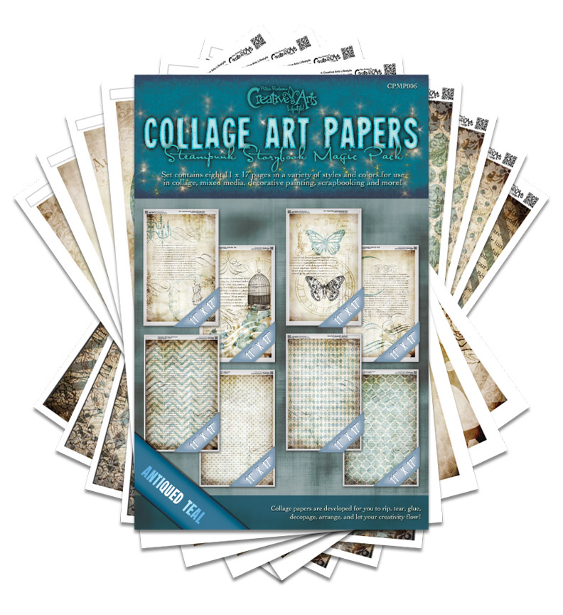 Steampunk Storybook Collage Paper Magic Pack