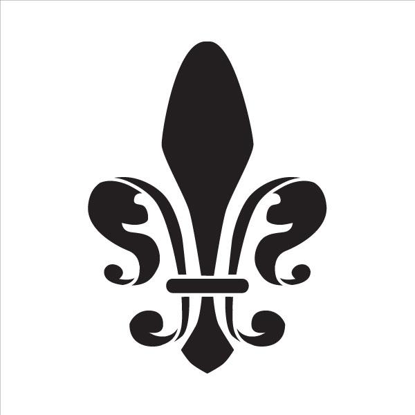 "Royal Fleur De Lis Art Stencil - 4"""
