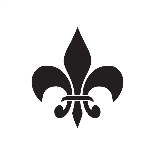 """Bourbon Fleur De Lis Art Stencil - 10"""""""