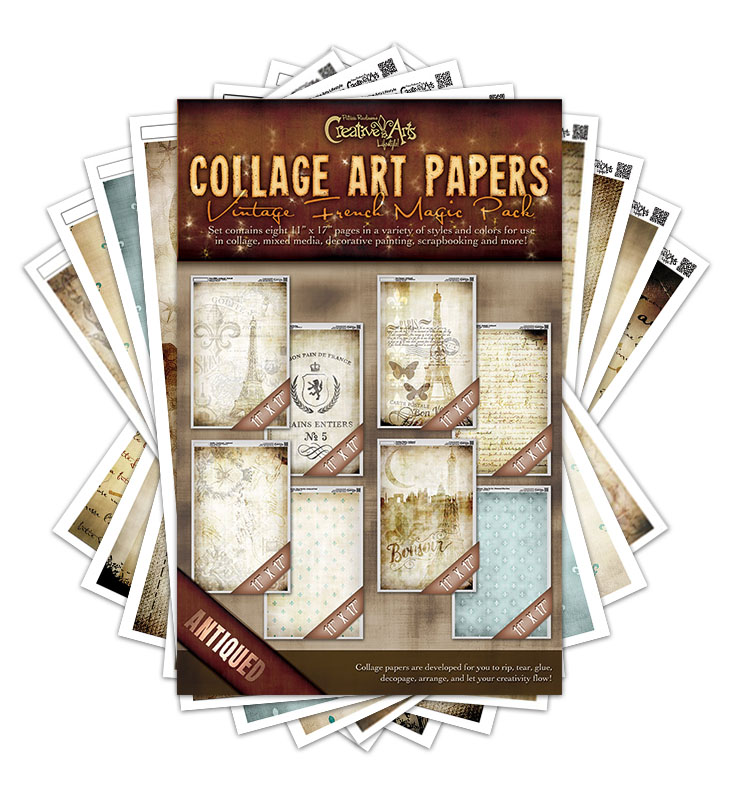 Vintage French Collage Paper Magic Pack