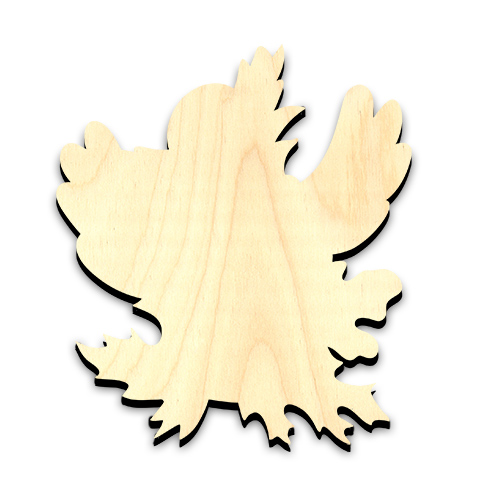 "Happy Fall Crow Embellishment - Large - 5-1/2"" x 6-1/4"""