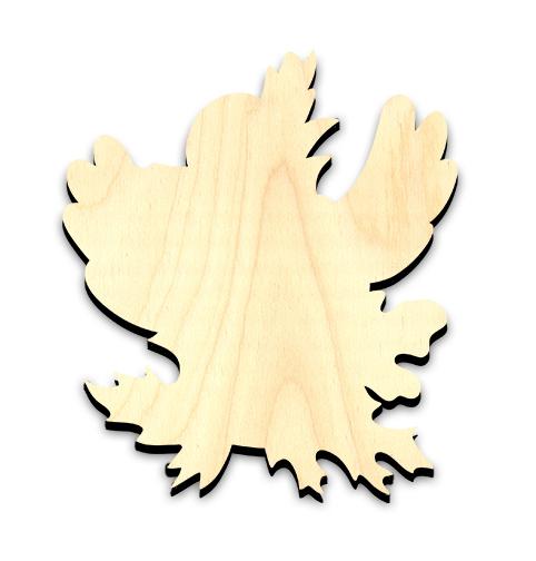 "Happy Fall Crow Embellishment - Medium - 4-1/8"" x 4-5/8"""