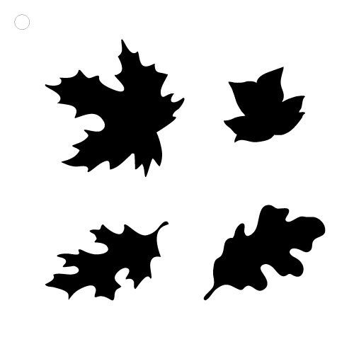 """Happy Fall Leaves Stencil - 1-3/4"""" Leaves"""