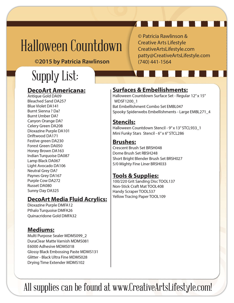 Halloween Countdown DVD and Pattern Packet - Patricia Rawlinson