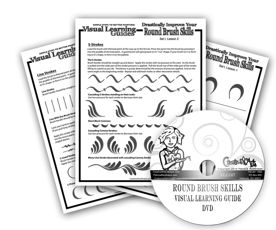Visual Learning Guide + DVD: Round Brush Skills