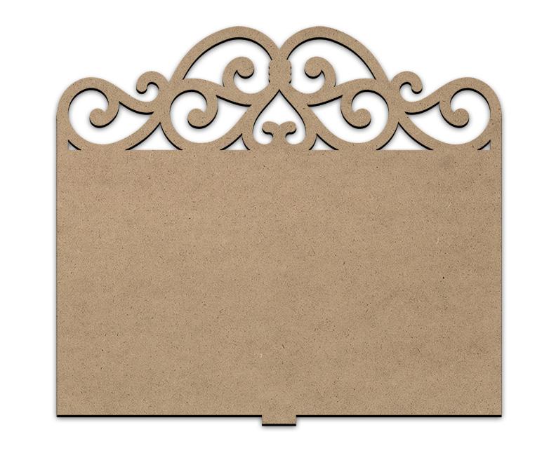 Elegant Scroll Cookbook Stand Reversible Insert Panel