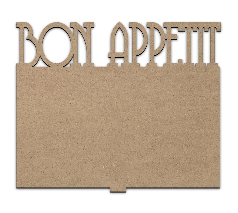 Bon Appetit Cookbook Stand Insert Panel