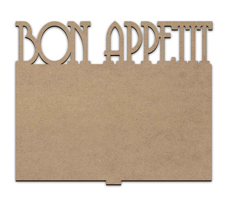 Simple Cookbook Stand and Bon Appetit Insert Panel Set