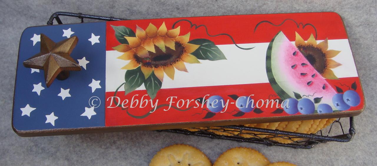 Patriotic Summer Cracker Basket - E-Packet - Debby Forshey-Choma
