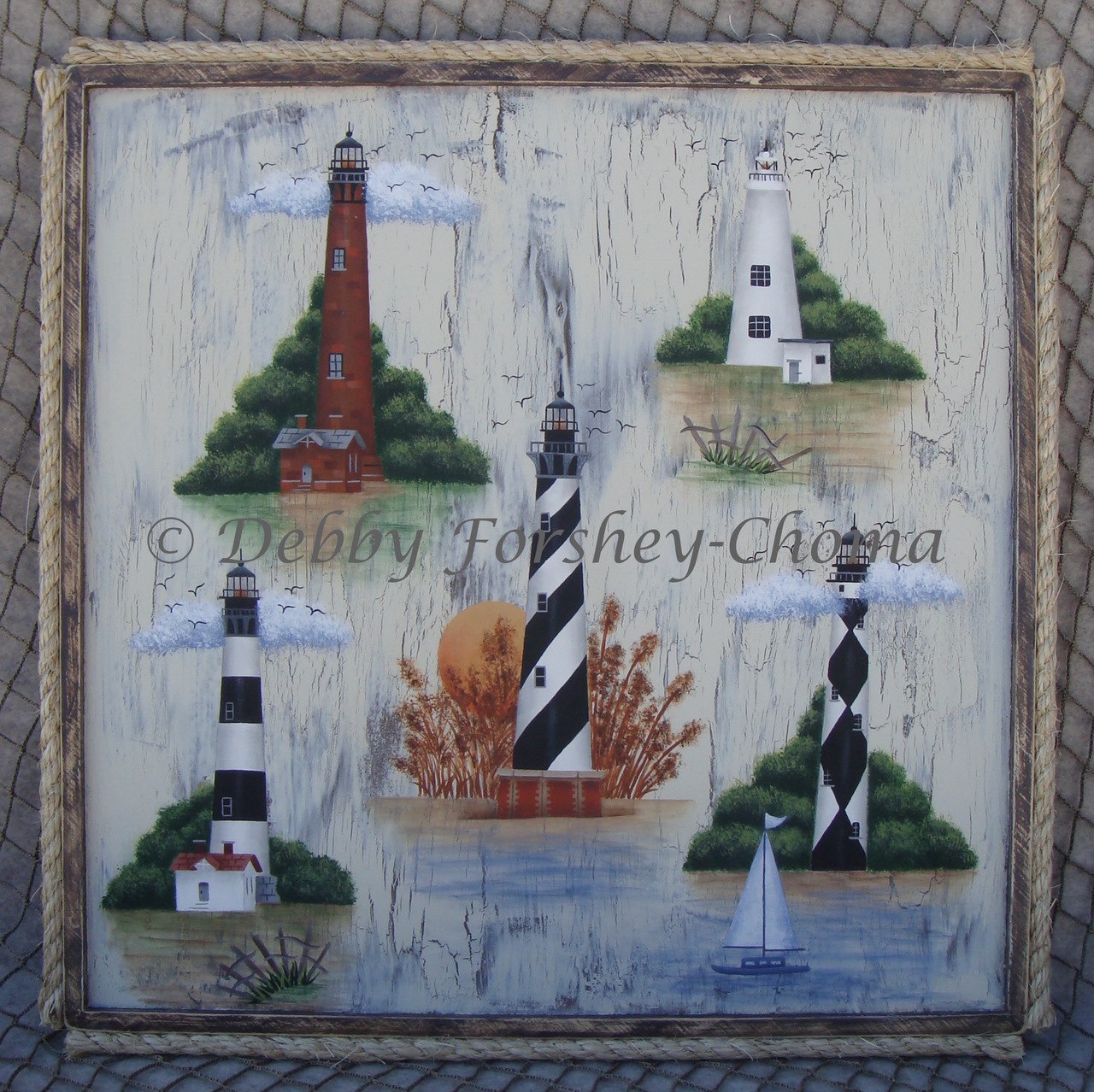 OBX Lighthouses - E-Packet - Debby Forshey-Choma