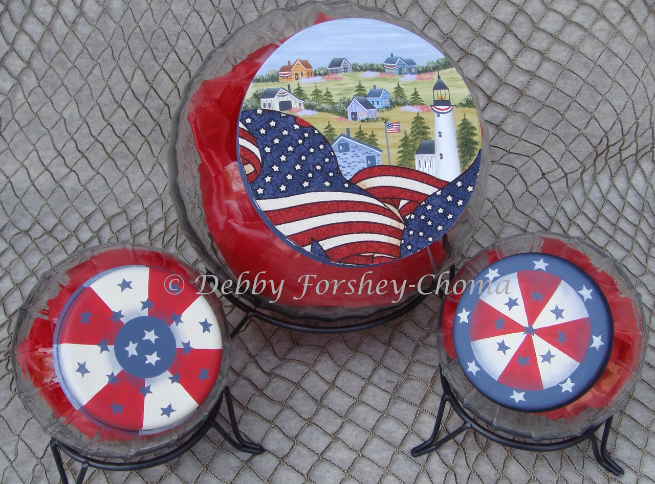 Patriotic Lighthouse Village - E-Packet - Debby Forshey-Choma
