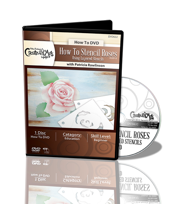 How To Stencil Roses Using Layered Stencils DVD - Patricia Rawlinson