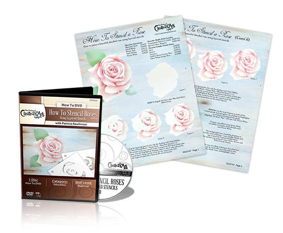 How To Stencil Roses DVD & VLG Worksheet Set