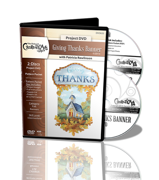 Giving Thanks Banner DVD and Pattern Packet - Patricia Rawlinson