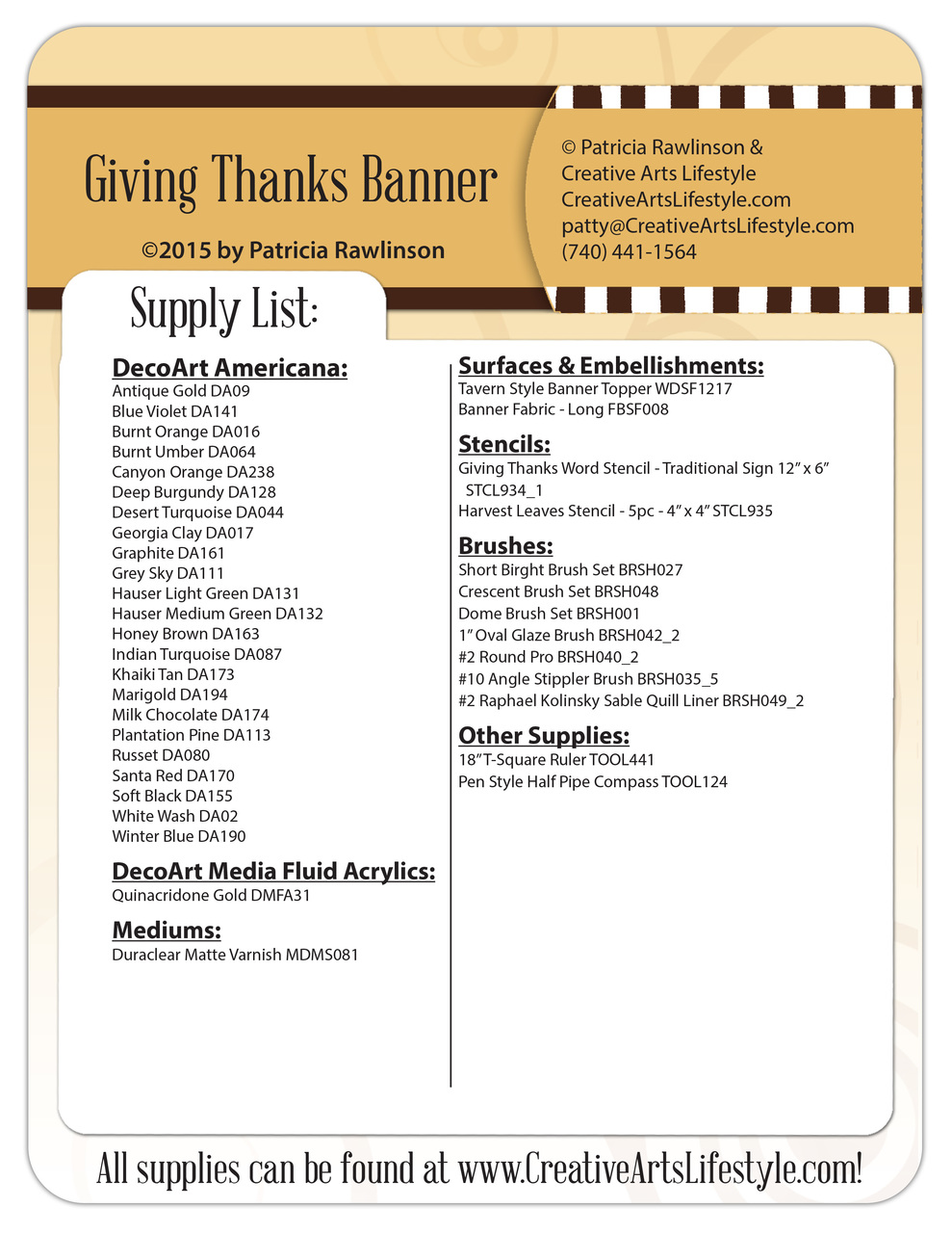 Giving Thanks Banner Pattern Packet - Patricia Rawlinson