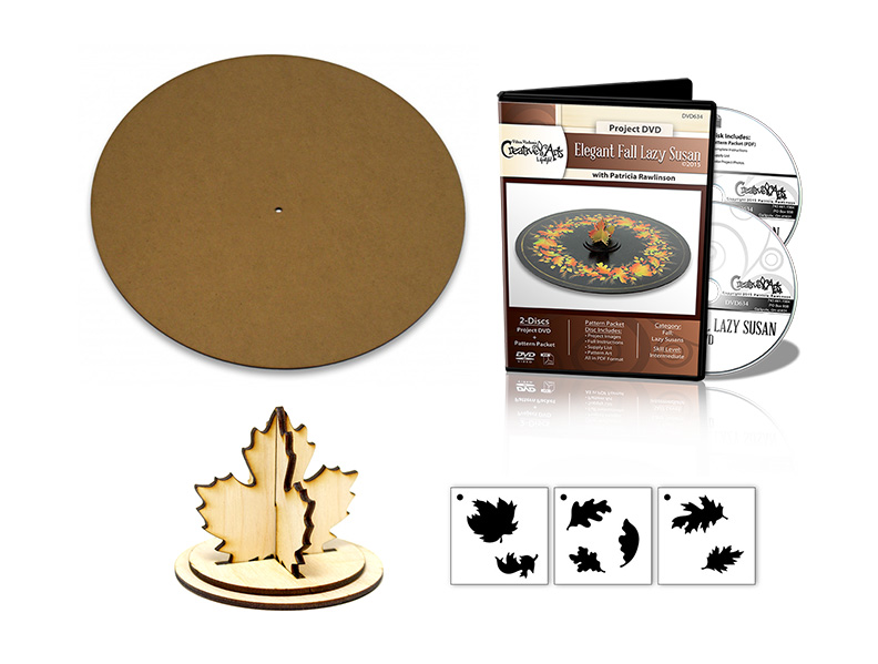 Elegant Fall Lazy Susan Deluxe Set