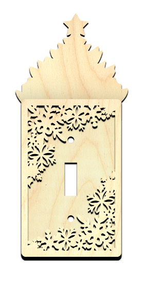 Christmas Tree Light Switch Cover with Snowflake Overlay