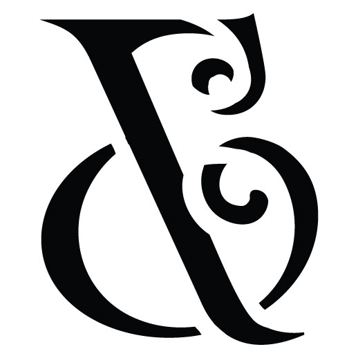 "Vintage Ampersand - Extra Large - 15"" X 15"""