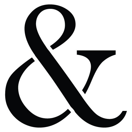"Classic Ampersand - Large - 12"" X 12"""