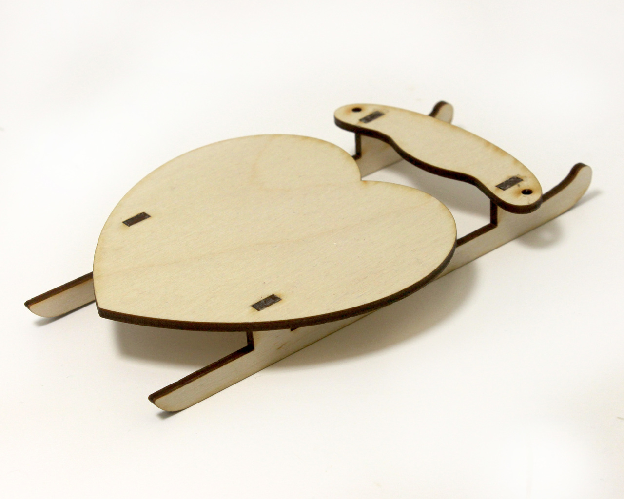 Heart Sled Ornament Surface