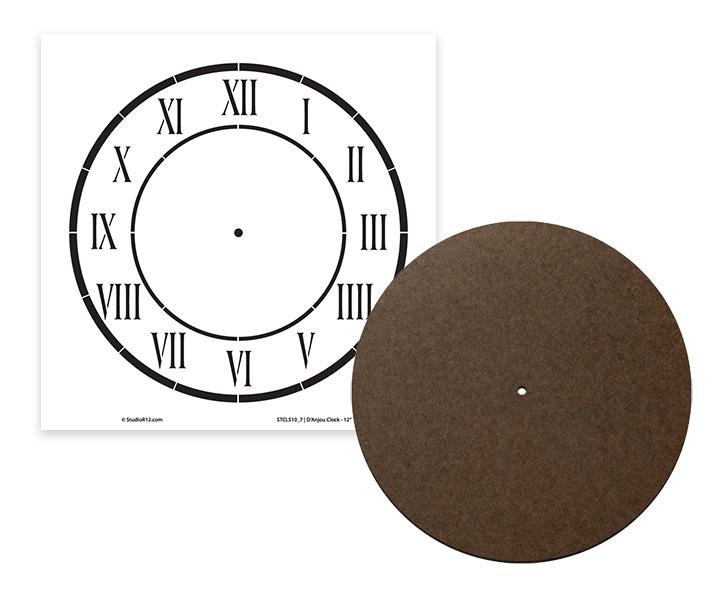 Flat Clock Surface + D'Anjou Clock Stencil