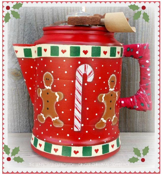 Christmas Ginger Coffee Pot - E-Packet - Pat Jarrett