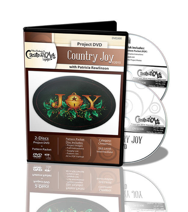 Country Joy DVD and Pattern Packet - Patricia Rawlinson