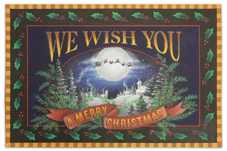 Christmas Wishes Floorcloth - E-Packet - Patricia Rawlinson