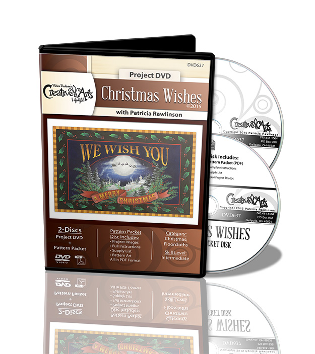 Christmas Wishes Floorcloth DVD and Pattern Packet - Patricia Rawlinson