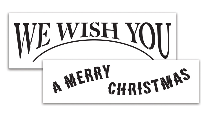 Christmas Wishes Floorcloth Project Stencil