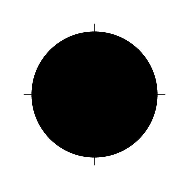 Circle Template Stencil - 9 inches