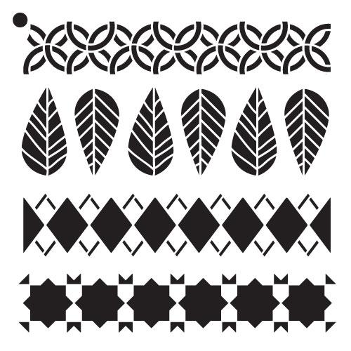"Fall Fashion - Pattern Stencil - 6"" x 6"""