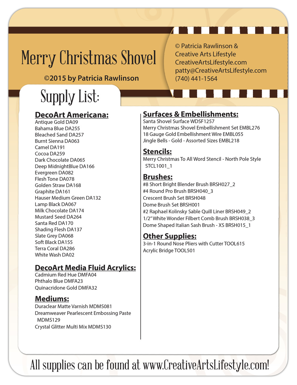 Merry Christmas Shovel - E-Packet - Patricia Rawlinson